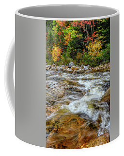 Coffee Mug featuring the photograph River Cross, Swift River Nh by Michael Hubley