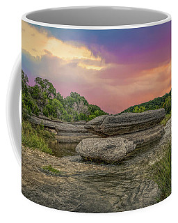 River Erosion At Sunset Coffee Mug
