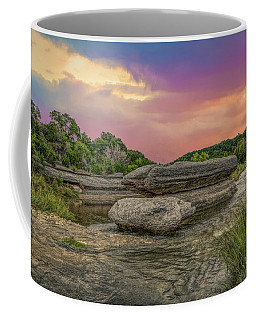 River Erosion At Sunset Coffee Mug
