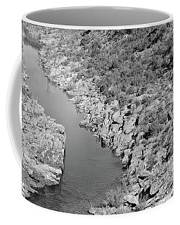 River On The Rocks. Bw Version Coffee Mug