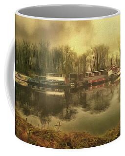 Coffee Mug featuring the photograph River Panorama - Hampton Court by Leigh Kemp