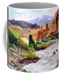 River Rafting In Montana Coffee Mug