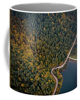 Road Inside The Forest Coffee Mug