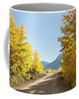 Road To Mountain Layers Coffee Mug