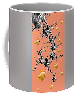 Coffee Mug featuring the digital art Robotic Angler Version Two by Shelli Fitzpatrick