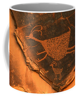 Rock Art At Eye Of The Sun Arch Coffee Mug