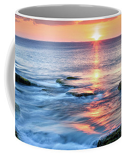 Coffee Mug featuring the photograph Rockport Pastel Sunset Ma. by Michael Hubley