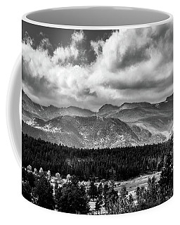 Coffee Mug featuring the photograph Rocky Foothills Bw by James L Bartlett