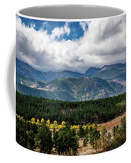 Coffee Mug featuring the photograph Rocky Foothills by James L Bartlett