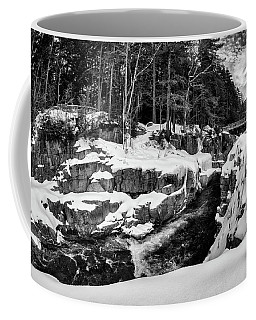 Coffee Mug featuring the photograph Rocky Gorge Foot Bridge N H by Michael Hubley