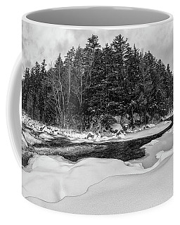 Coffee Mug featuring the photograph Rocky Gorge N H, River Bend 1 by Michael Hubley