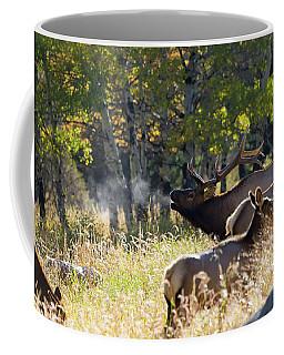 Rocky Mountain Bull Elk Bugeling Coffee Mug