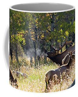 Coffee Mug featuring the photograph Rocky Mountain Bull Elk Bugeling by Nathan Bush