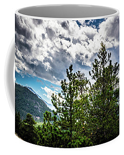 Coffee Mug featuring the photograph Rocky Mountain Pines by James L Bartlett