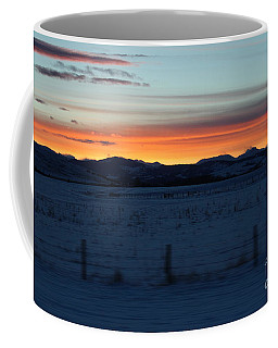 Coffee Mug featuring the photograph Rocky Mountain Sunset by Ann E Robson