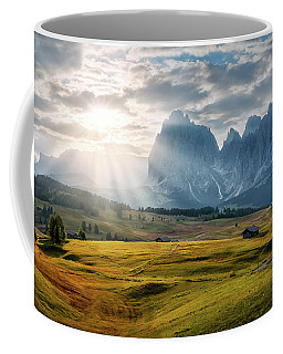 Rolling Hills Of Alpe Di Siusi Coffee Mug