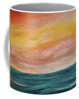 Coffee Mug featuring the painting Rolling Ocean by Valerie Anne Kelly