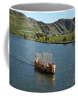 Coffee Mug featuring the photograph Roman Warship On The Mosel by PJ Boylan