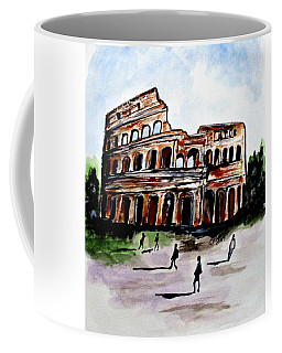 Coffee Mug featuring the painting Rome Colosseum by Clyde J Kell