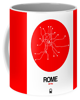 Rome Red Subway Map Coffee Mug