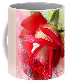 Rose And Water Drops Coffee Mug
