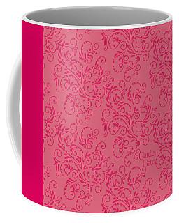 Rose Colored Fern Pattern Coffee Mug
