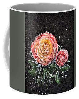 Coffee Mug featuring the painting Rose In Light by Clyde J Kell