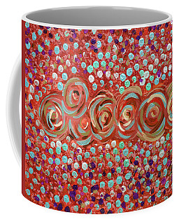 Roses Of Coral And Turquoise Coffee Mug