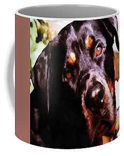 Rottweiler Artistic Pet Portait Coffee Mug