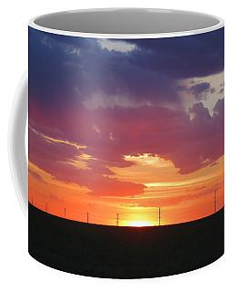 Round Barn Sunset Coffee Mug