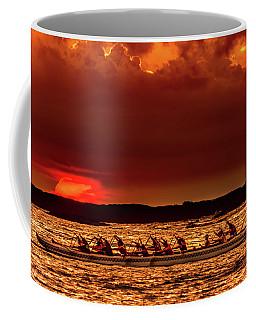 Rowing In The Sunset Coffee Mug