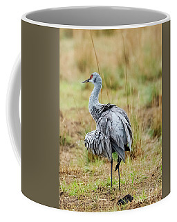 Ruffled Crane Coffee Mug