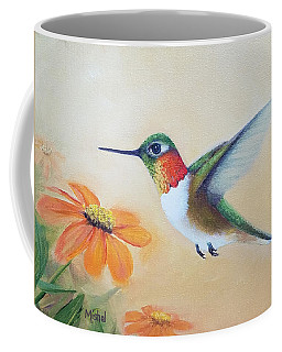 Rufous In Marigolds  Coffee Mug