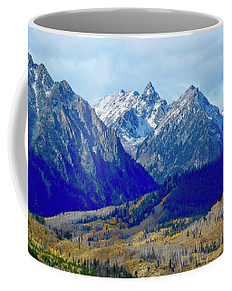 Coffee Mug featuring the photograph Rugged Peaks by Dan Miller