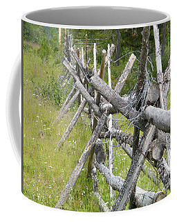 Coffee Mug featuring the photograph Russel Fence by Ann E Robson