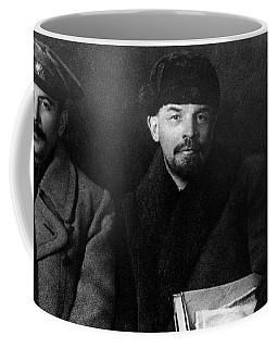 Russian Revolutionaries Leaders Josef Stalin, Vladimir Lenin And Mikhail Kalinin In 1919 Coffee Mug
