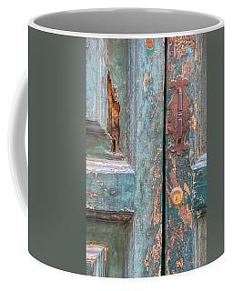 Rustic Green Door Of Cortona Coffee Mug