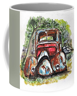 Coffee Mug featuring the painting Rusting And Broken by Clyde J Kell