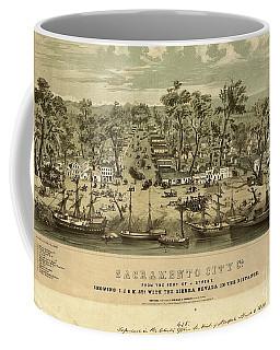 Sacramento City, California With The Sierra Nevada In The Distance  Coffee Mug