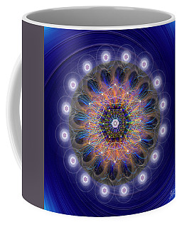 Coffee Mug featuring the digital art Sacred Geometry 726 by Endre Balogh
