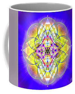 Coffee Mug featuring the digital art Sacred Geometry 731 by Endre Balogh