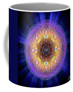 Coffee Mug featuring the digital art Sacred Geometry 732 by Endre Balogh