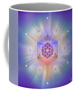 Coffee Mug featuring the digital art Sacred Geometry 734 by Endre Balogh