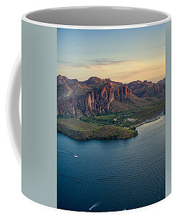 Saguaro Lake Mountain Sunset Coffee Mug