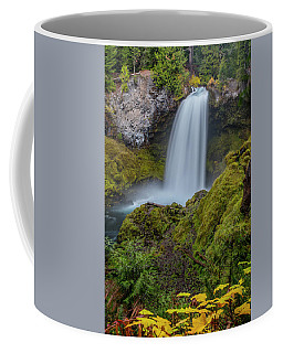 Coffee Mug featuring the photograph Sahalie Falls, Autumn by Matthew Irvin