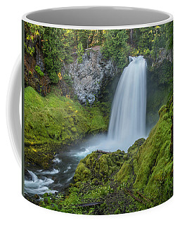 Coffee Mug featuring the photograph Sahalie Falls, Summer by Matthew Irvin