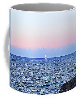 Coffee Mug featuring the digital art Sail Boat by Lucia Sirna