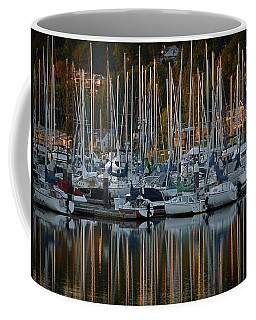 Coffee Mug featuring the photograph Sailboat Reflections by Patricia Strand