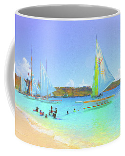 Coffee Mug featuring the photograph Sailboats At Sandy Ground In Anguilla  by Ola Allen