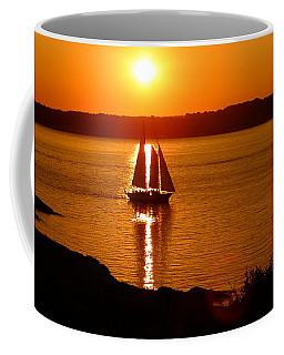 Sailing At Sunset Coffee Mug